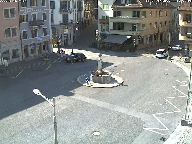 Webcam Monthey, Place Centrale